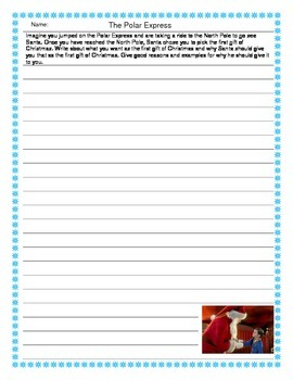 The Polar Express Persuasive Writing Prompt