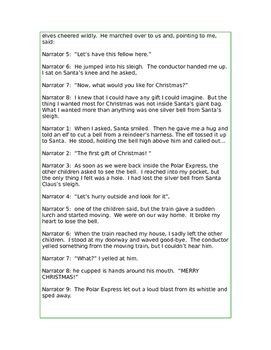 The Polar Express Reader's Theater Script by Christy Hard   TpT