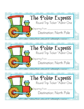 photo regarding Printable Polar Express Ticket titled Polar Convey Ticket Worksheets Schooling Materials TpT