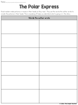 The Polar Express - Visualize Comprehension and Writing Lesson