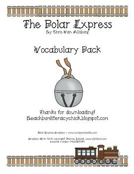 The Polar Express Vocabulary Activity Pack