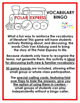 The Polar Express Vocabulary Bingo