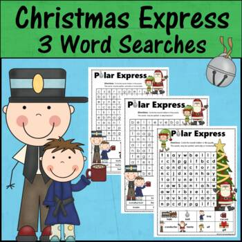 The Polar Express Word Search Pack - 3 Levels