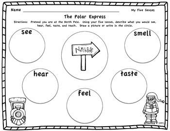 Polar Express Writing Using Your Senses