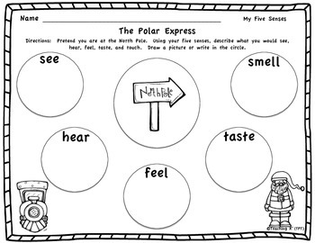 Polar Express Writing Using Your Senses