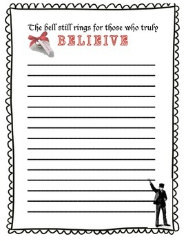 The Polar Express: Writing paper (2 pages) and Sign