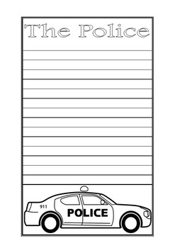 The Police Writing Paper