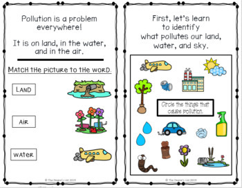The Pollution Solution- A rhyming story & activity book
