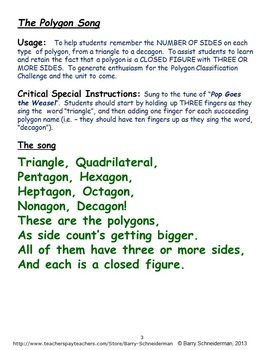 The Polygon Song (Classifying Polygons)