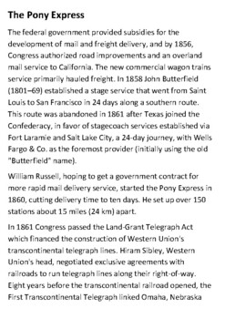 The Pony Express Handout