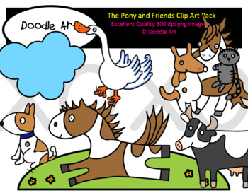 The Pony and Friends Clipart Pack