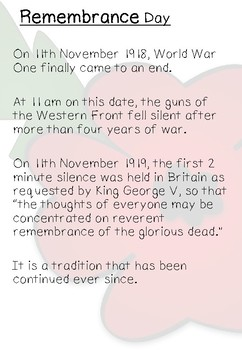 The Poppy: Facts and Comprehension (Remembrance Day)
