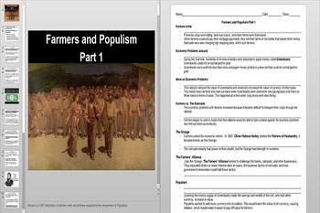 The Populist Movement Powerpoint AND Notes Worksheet