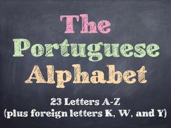 The Portuguese Alphabet PowerPoint