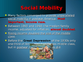 World Wars Era - Post WW II Era - The Middle Class Expands