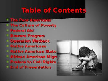 World Wars Era - Post WW II Era - The Poor Americans
