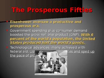 World Wars Era - Post WW II Era - The Prosperous Fifties
