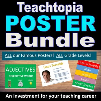 The Poster Bundle.  EVERY Teachtopia Poster Resource.  Posters for your room.