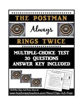 The Postman Always Rings Twice: Test for the Movie (20 Questions, Ans. Key, $2)
