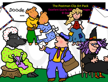 The Postman Clip Art Pack