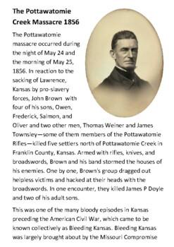 The Pottawatomie Creek Massacre 1856 Handout