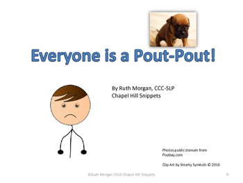 The Pout-Pout Fish Companion Pack--Special Education/Autism and SLP