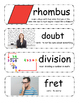 The Pout Pout Fish Goes to School Vocabulary Cards
