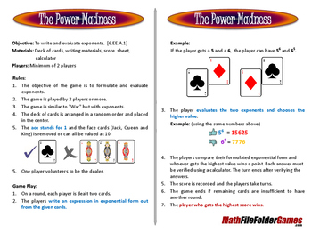 The Power Madness Game
