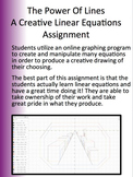 Linear Equations Assignment Using Technology - Line Art