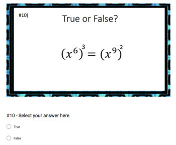 The Power Rule (Google Form & Interactive Video Lesson!)