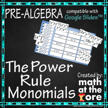 The Power Rule - Rules of Exponents - GOOGLE Slides
