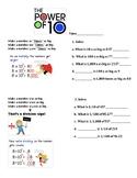The Power of 10 - Multiplying & Dividing worksheet