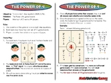 The Power of 4 - 8th Grade Game [CCSS 8.EE.C.7b]