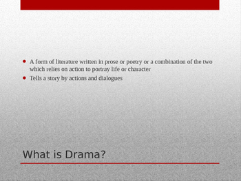 The Power of Drama Presentation