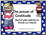 The Power of Gratitude- End your groups with a thankful heart