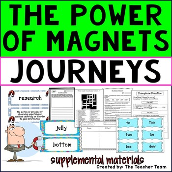 The Power of Magnets Journeys Third Grade Unit 6 Lesson 27 Activities