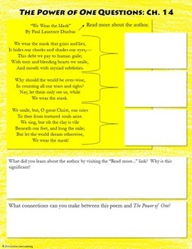 """""""The Power of One"""" Digital Interactive Notebook for Novel Study"""