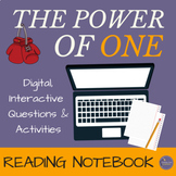 """The Power of One"" Digital Interactive Notebook for Novel Study"