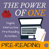 """The Power of One"" Prereading Thematic Activities for Novel Study"