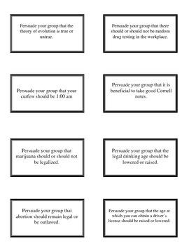 The Power of Persuasion - Impromptu Persuasive Speeches