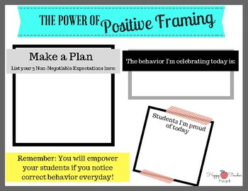 The Power of Positive Framing---Teacher Classroom Management Resource