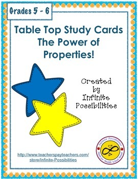 The Power of Properties Study Cards