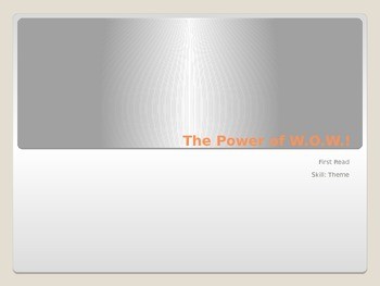 The Power of W.O.W. (1st Read) PowerPoint - 4th Grade Journeys