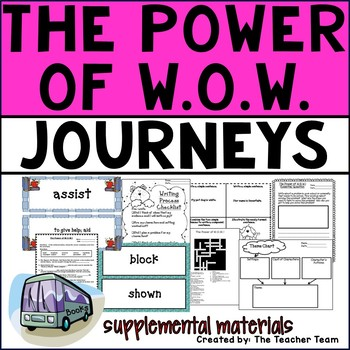 The Power of W.O.W. Journeys 4th Grade Unit 1 Lesson 4 Activities and Printables