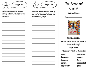 The Power of WOW Trifold - Journeys 4th Grade Unit 1 Week 4 (2011)