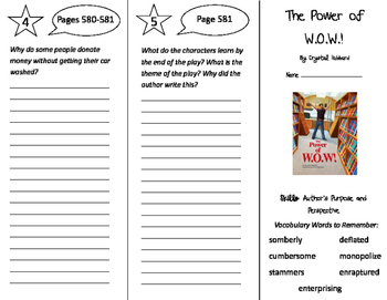 The Power of WOW Trifold - Storytown 5th Grade Unit 5 Week 2