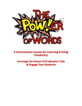 The Power of Words! 9 Engaging DOK 2-3 Vocabulary Strategies