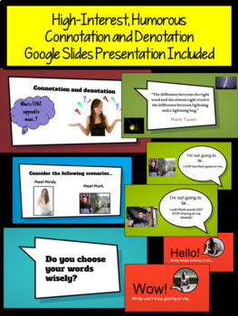 Google Apps Connotation and Denotation Activities & Hyperdoc: The Power of Words