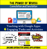 Google Apps Connotation and Denotation Activities: Interactive and Engaging