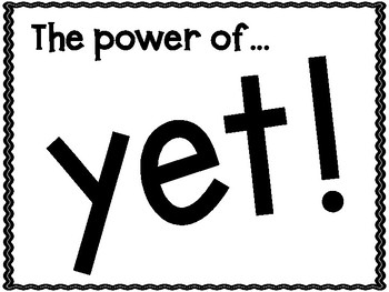 The Power of YET!! Growth Mindset Bulletin Board Set